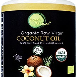 Little Jasmine Organic Raw Virgin Cold Pressed Coconut Oil, 15 fl. oz.