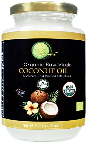 Little Jasmine Organic Raw Virgin Cold Pressed Coconut Oil, 15 fl. oz.