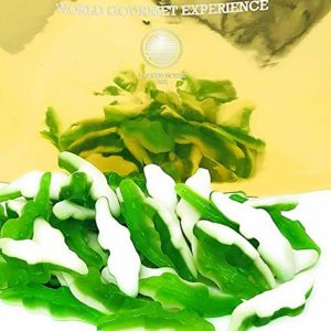 SweetGourmet Gummy Crocodile Candy | Green Layer and White Foam Bottom | Alligator Gummi | Halal | 3 Pounds