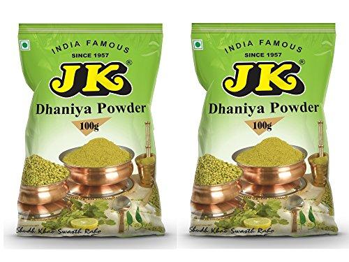 JK CORIANDER POWDER 7.05 Oz, 200g (100g x 2 Packs) (Dhaniya Powder) Non-GMO, Gluten free and NO preservatives!