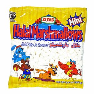 Ziyad Gourmet Halal MINI Marshmallows, Egg-Free, Dairy-Free, Gluten-Free (Mini)
