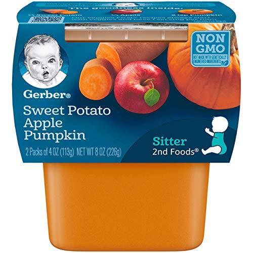 Gerber 2nd Foods Sweet Potato Apple Pumpkin Baby Food (Pack of 8)