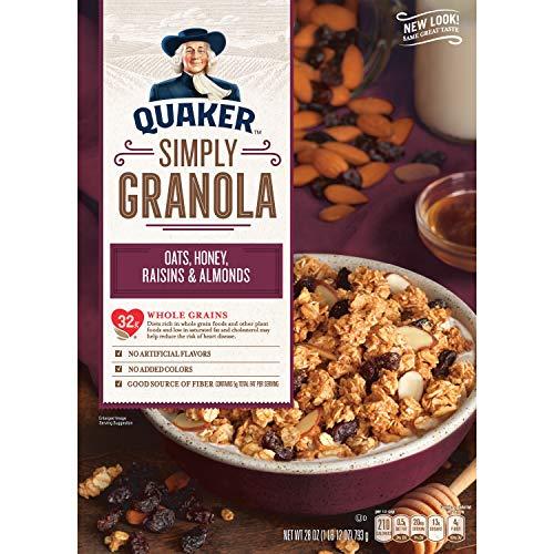 Quaker Simply Granola, Oats Honey Almonds & Raisins Breakfast Cereal, 28 oz