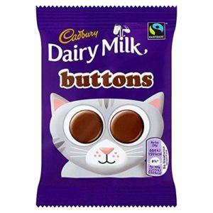 Cadbury Dairy Milk Buttons Chocolate 28 x 30g Bags (Bulk Buy)