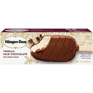 Haagen Dazs, Vanilla Milk Chocolate Ice Cream Bar, 3 Oz. (12 Count)