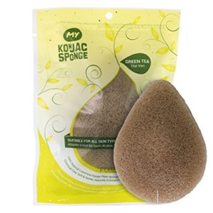 All Natural Korean Facial Konjac Sponge with Real Green Tea