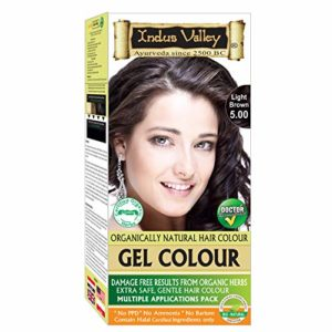 Indus Valley Natural Gel Permanent Light Brown 5.0 Hair Color (Multiple Application Pack)
