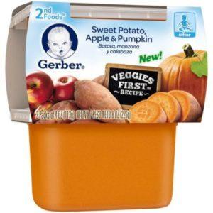 Gerber 2nd Foods Sweet Potato Apple Pumpkin (Pack of 2)