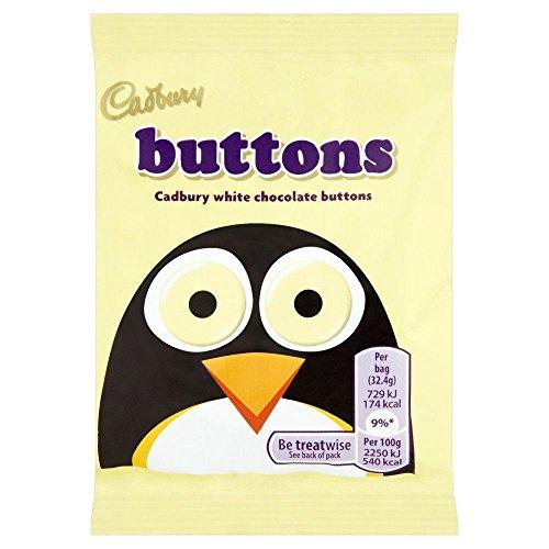 Cadburys White Buttons - 32.5g Pack of 6 (32.5g x 6 BagsCount)
