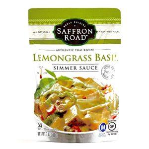 Saffron Road Lemongrass Basil Simmer Sauce 7 oz each (1 Item Per Order)