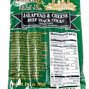 Halal Jalapeno & Cheese Beef Snack Sticks (3-Count)
