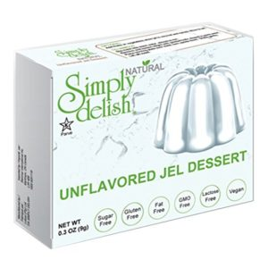 Simply delish Natural Unflavored Jel Dessert, Sugar free, 0.3 oz., 6-pack - Fat Free, Gluten Free, Lactose Free, Non GMO, Kosher, Halal, Dairy Free, Natural