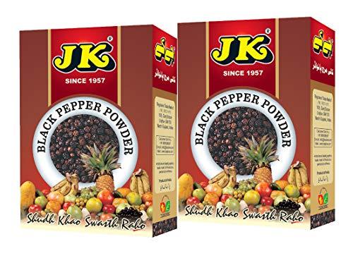 JK BLACK PEPPER POWDER 3.53 Oz, 100g (50g X 2 Packs) (Kali Mirch) Non-GMO, Gluten free and NO preservatives!