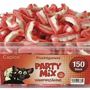 Capico Gummy Candy Halal Party Mix Wampir Teeth (1 x 1,05 kg)