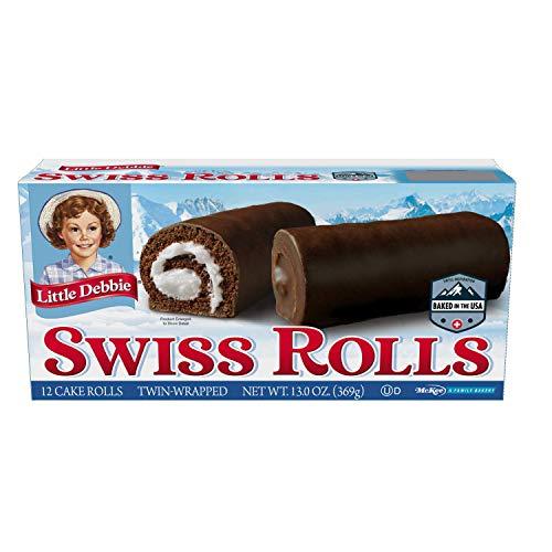 Little Debbie Swiss Rolls, 12 Cake Rolls (Twin Wrapped) - 4 Pack