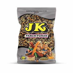 JK INDIAN FIVE SPICE BLEND 3.53 Oz, 100g (Panch Foran, Panch Puran, 5 Whole Spices Mix) Non-GMO, Gluten Free and NO Preservatives!