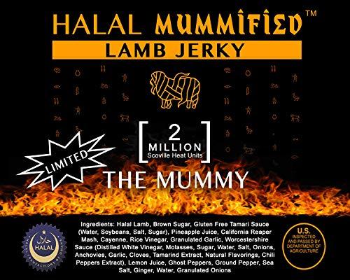 Mummified Halal Lamb Jerky - The Mummy Carolina Reaper