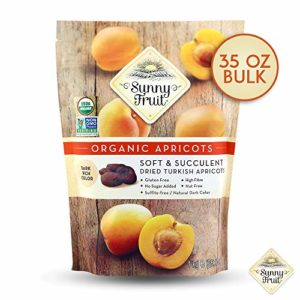 ORGANIC Turkish Dried Apricots - Sunny Fruit - 1kg Bulk Bag   Purely Apricots - NO Added Sugars, Sulfurs or Preservatives   NON-GMO, VEGAN, HALAL & KOSHER