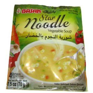 Basak Halal Star Noodle and Vegetable Soup 70g