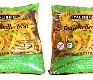 Italissima, Tagliatelle Pasta Nest, Imported from Italy, 8.80 oz (Pack of 2)