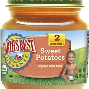Earth's Best Organic Stage 2 Baby Food, Sweet Potato, 4 oz. Jar (Pack of 12)