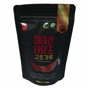 Korean Red Chili Pepper Powder Flakes Type Taeyangcho Gochugaru Mild Taste HALAL 7.5/ 17/ 35oz Kfoods Mukbang [해들촌 태양초 고춧가루] (35.27 oz (1kg))