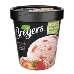 Breyers, Strawberry All Natural Ice Cream, Pint (8 Count)