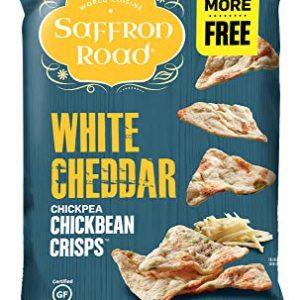 Saffron Road Chickbean Crisps, White Cheddar, 4.03 Ounce, 12 Count