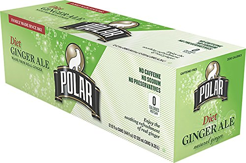 Polar Diet Ginger Ale 12 oz Cans - Pack of 24