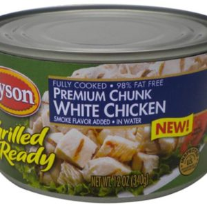Tyson Foods Grilled and Ready, Premium Chunk White Chicken, 12-Ounce (Pack of 6)