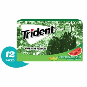 Trident Watermelon Twist Flavor Sugar Free Gum-12 Packs (168 Pieces Total) Packaging May Vary