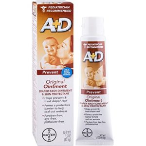 A+D Original Diaper Rash Ointment, Baby Skin Protectant With Lanolin and Petrolatum, Seals Out Wetness, Helps Prevent Diaper Rash, 1.5 Ounce Tube
