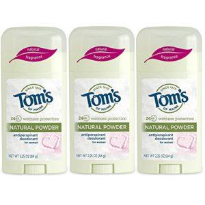 Tom's of Maine Women's Antiperspirant Deodorant Natural Powder - 2.25 Oz, Pack of 3