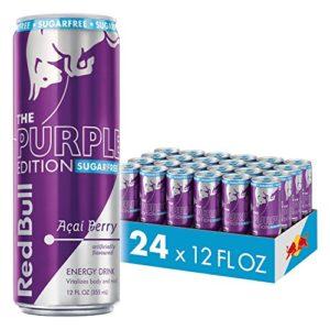 Red Bull Energy Drink, Sugar Free Acai Berry, 24 Pack of 12 Fl Oz, Sugarfree Purple Edition