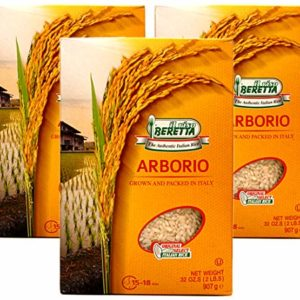 Il Riso Beretta, Arborio Italian Rice (Pack of 3), Imported from Italy, 32 oz (each)