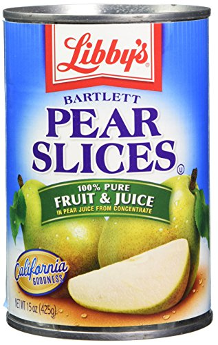 Libby's Pears Sliced In Pear Juices Concentrate Cans, 15 Ounce (Pack of 12)
