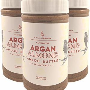 Villa Jerada, Argan Almond Amlou Butter, 12 oz (Pack of 3)