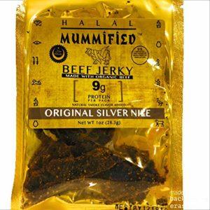 Mummified Halal Organic Beef Jerky (Original Silver Nile 4-pack x 1oz)