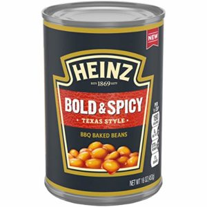 Heinz Texas Style Bold & Spicy BBQ Baked Beans, 16 oz Can