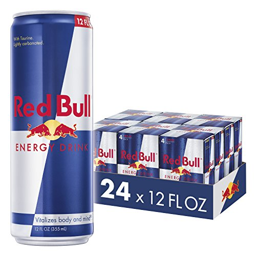Red Bull Energy Drink, 24 Pack of 12 Fl Oz (6 Packs of 4)