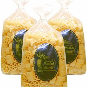 Maestri Pastai, Ruote Pasta (Pack of 3), Imported from Mercato San Severino, Italy, 17.66 oz (each)