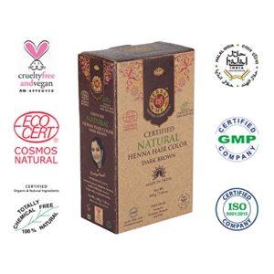 Herbal Me - Dark Brown Henna Hair Color 7.05 oz, CERTIFIED 100% Natural by Ecocert (France).VEGAN & HALAL approved, Zero chemicals