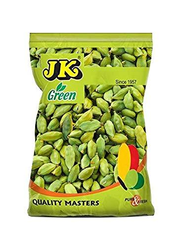 JK GREEN CARDAMOM PODS 8mm 3.53 Oz, 100g (Small Pods, Choti Elaichi, Hari Elaichi) 100% Pure and Natural, GMO & Gluten Free, No Added Essence, Color or Preservatives