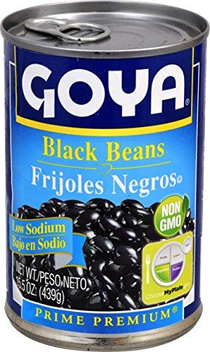 Goya Low Sodium Black Beans, 15.5 oz
