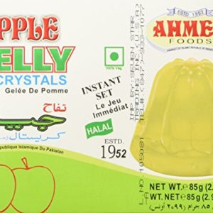 AHMED Halal Jello Vegetarian Crystal Jelly, Apple, 85 Gram (Pack of 12)