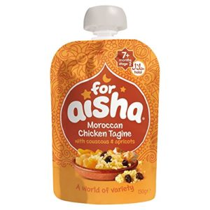 For Aisha Moroccan Chicken Tagine with Couscous & Apricots 130g (Pack of 6)