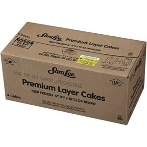 Sara Lee Round Sliced Carrot Premium Butter Cream Layer Cake, 9 inch -- 4 per case.