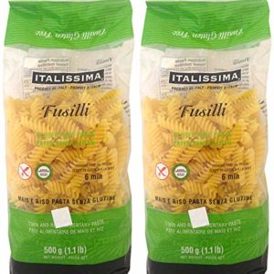 Italissima, Fusilli (Gluten-Free), (Pack of 2), Imported from Italy, 8.80 oz (each)