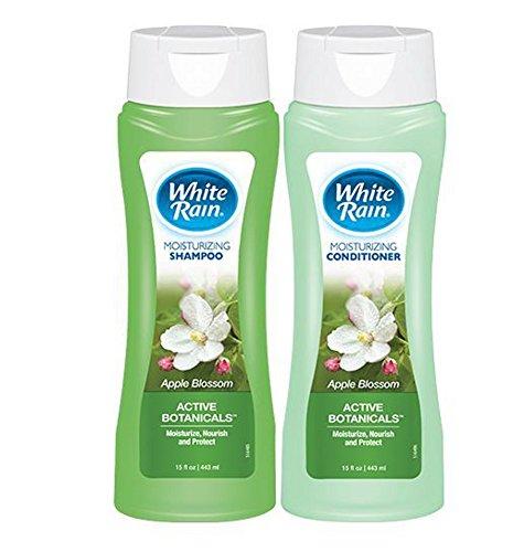 White Rain Moisturizing Apple Blossom Shampoo and Conditioner Set with Active Botanicals