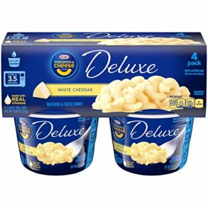 Kraft Deluxe White Cheddar Macaroni & Cheese Cups (2.39 oz Cups, Pack of 4)